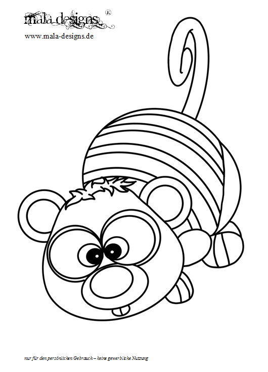 Coloring Page Opossum