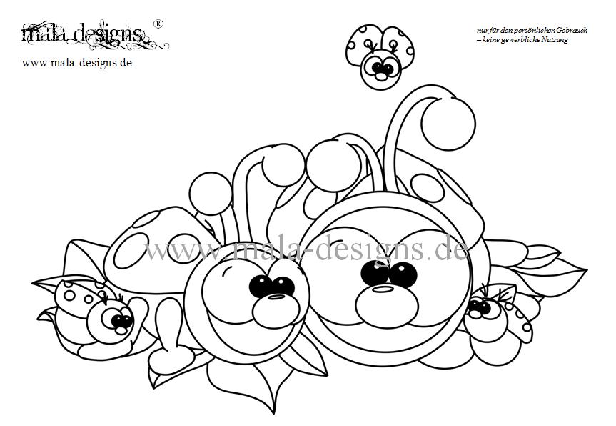 Kleurplaat Lieveheersbeestjes