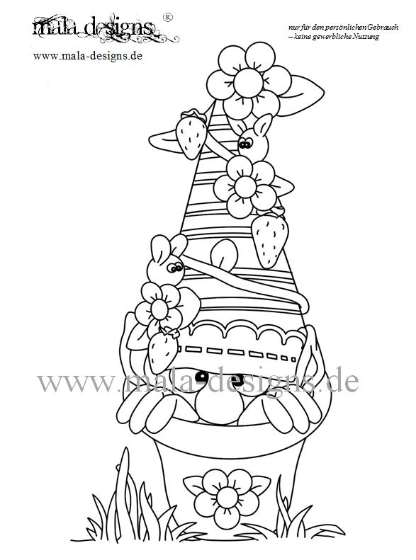 coloring page garden gnomes no 3 - Garden Gnome Coloring Pages