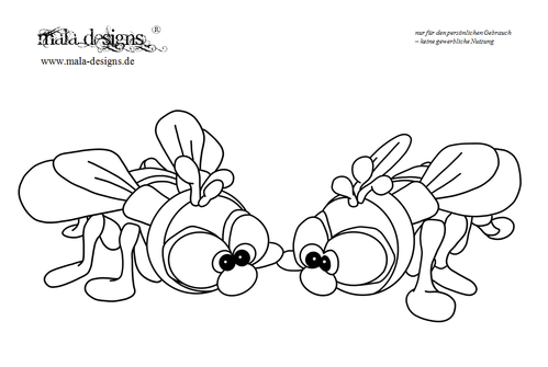 coloring page flies