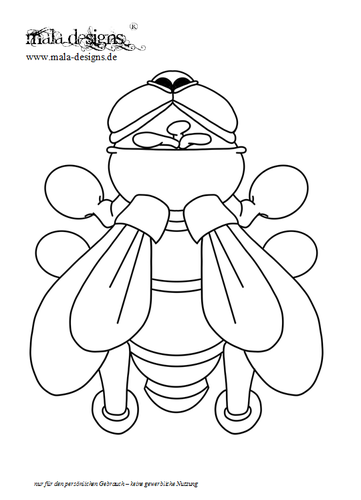 coloring page fly