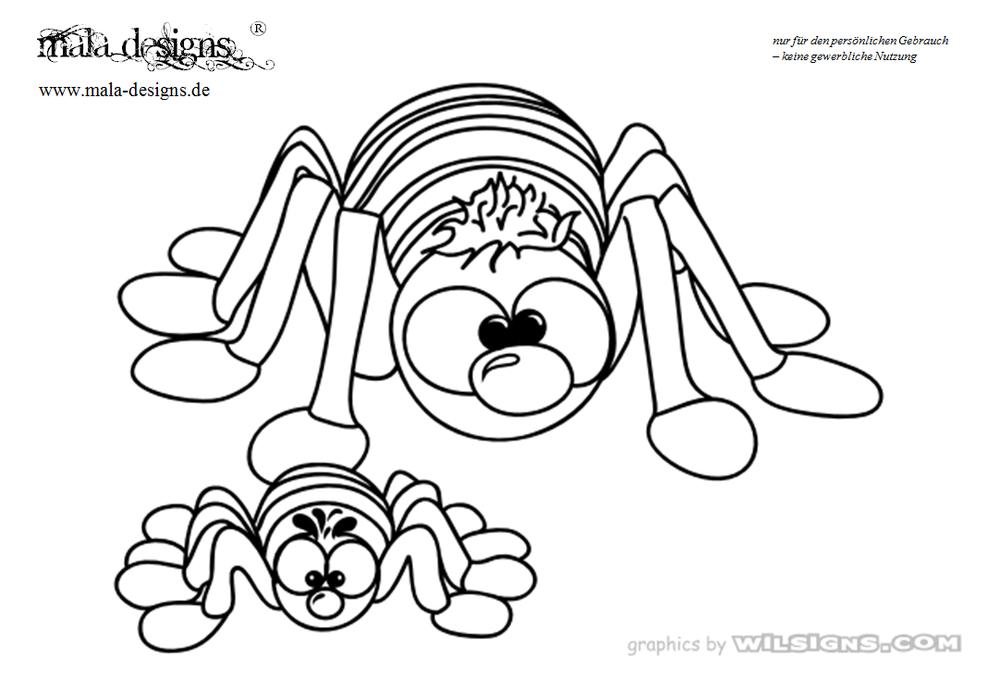 Kleurplaten Halloween Spinnen.Kleurplaat Spinnen
