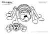 coloring page spiders