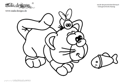 coloring page kitty