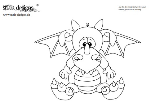 coloring page dragon I