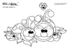 coloring page ladybugs