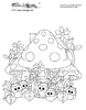 coloring page toadstool house no. 1