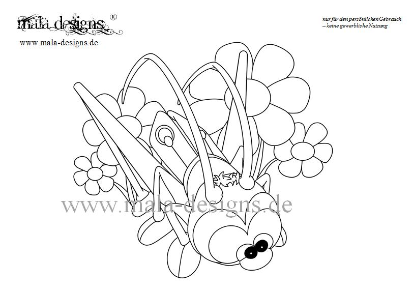 Coloring Page Grasshopper No 2