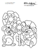 coloring page mice