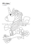 coloring page unicorn no. 1