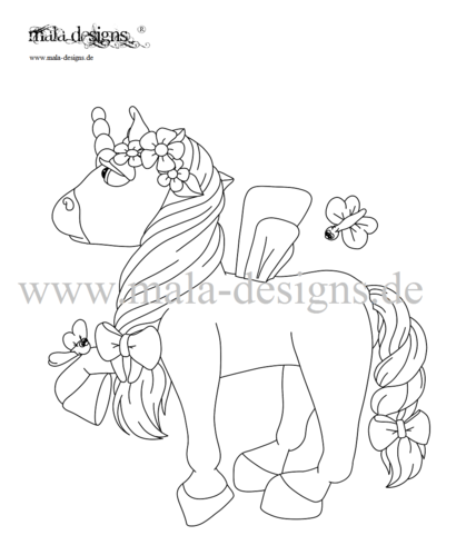 coloring page unicorn no. 2