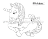 coloring page unicorn no. 3