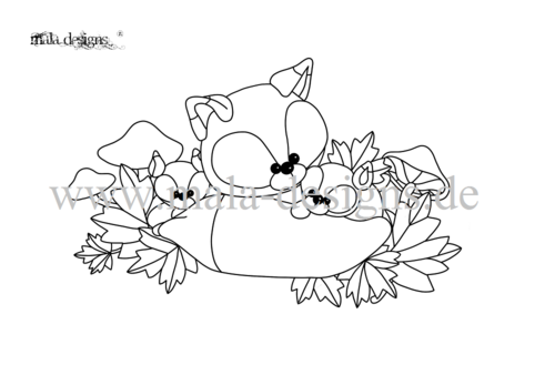 coloring page Foxes