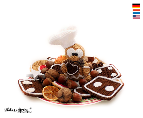 gingerbread man with cookies