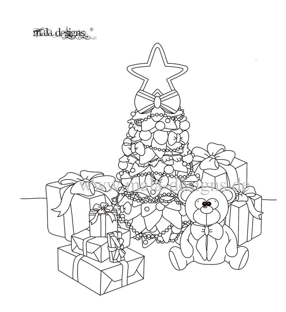 kleurplaat kerstboom kidkleurplaat nl