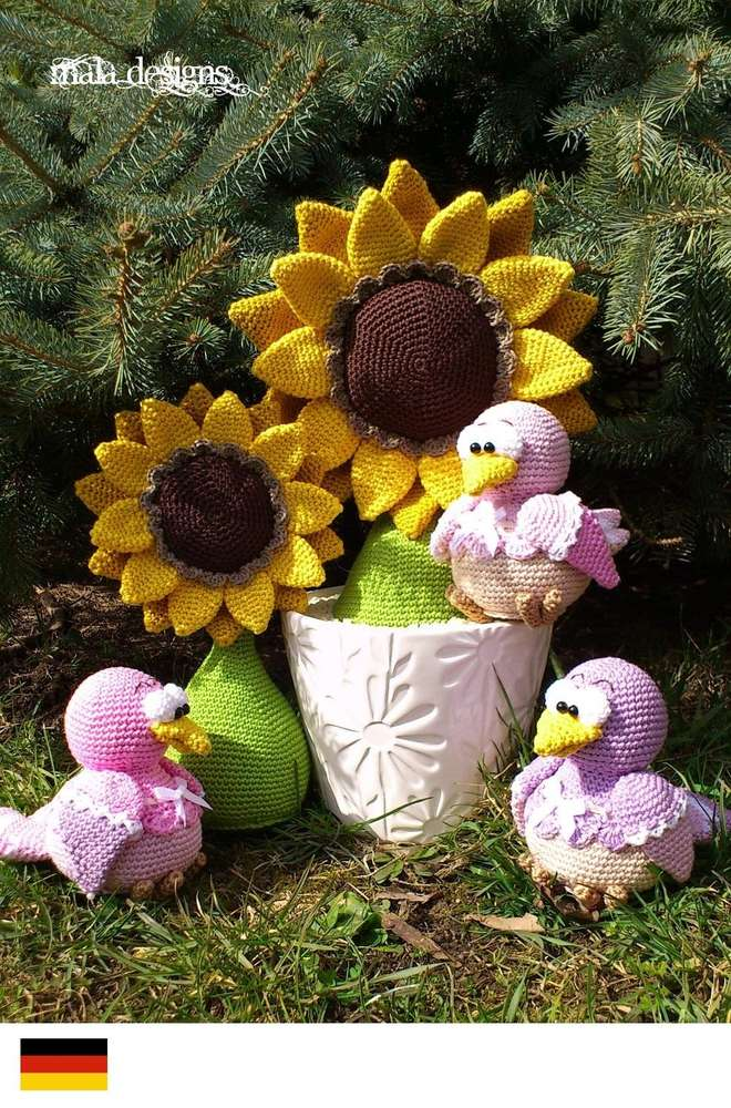 Zonnebloemen Met Vogeltjes