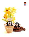 mole with daffodils